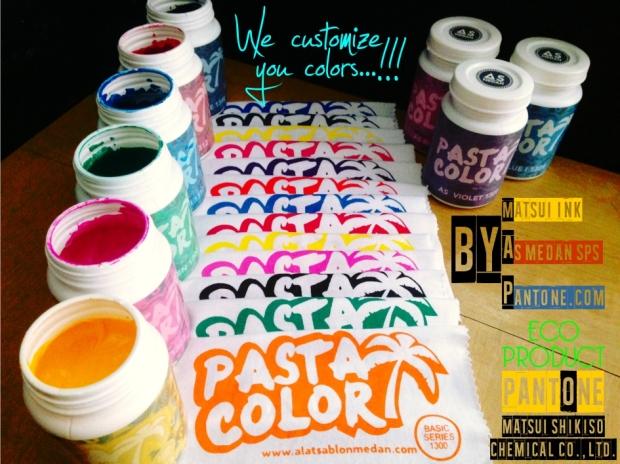 tinta sablon, tinta warna, tinta matsui. pasta color