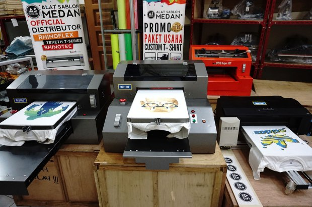DISTRO SPIDER Series (I,II,II), Mesin Printer DTG Full Color