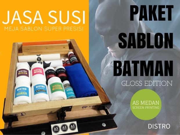 PAKET SABLON PEMULA - BATMAN