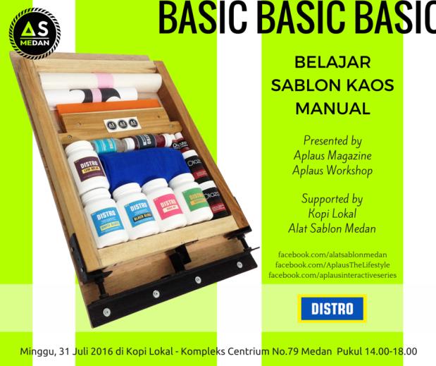 Belajar Sablon Kaos Manual