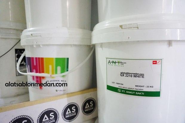 Tinta Sablon Kaos Ant Ink Pasta Rubber QX White 1 Pail 23 kg