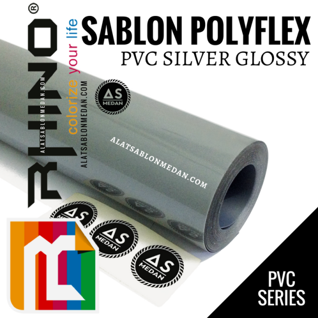 Rhinoflex PVC Silver Glossy