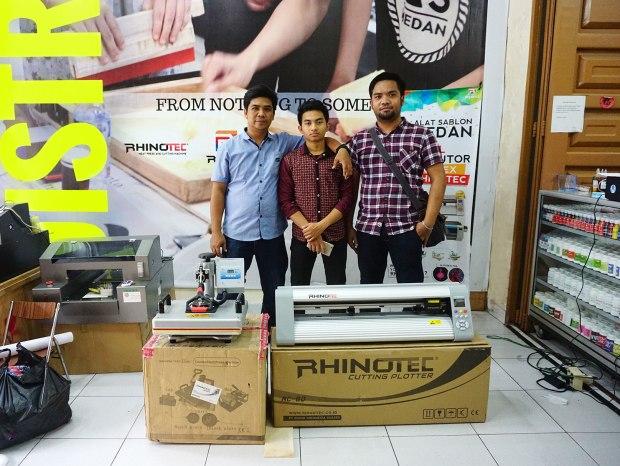 Pelanggan As Medan yg membeli mesin cutting Rhinotec & mesin press 5 in 1 Rhinotec